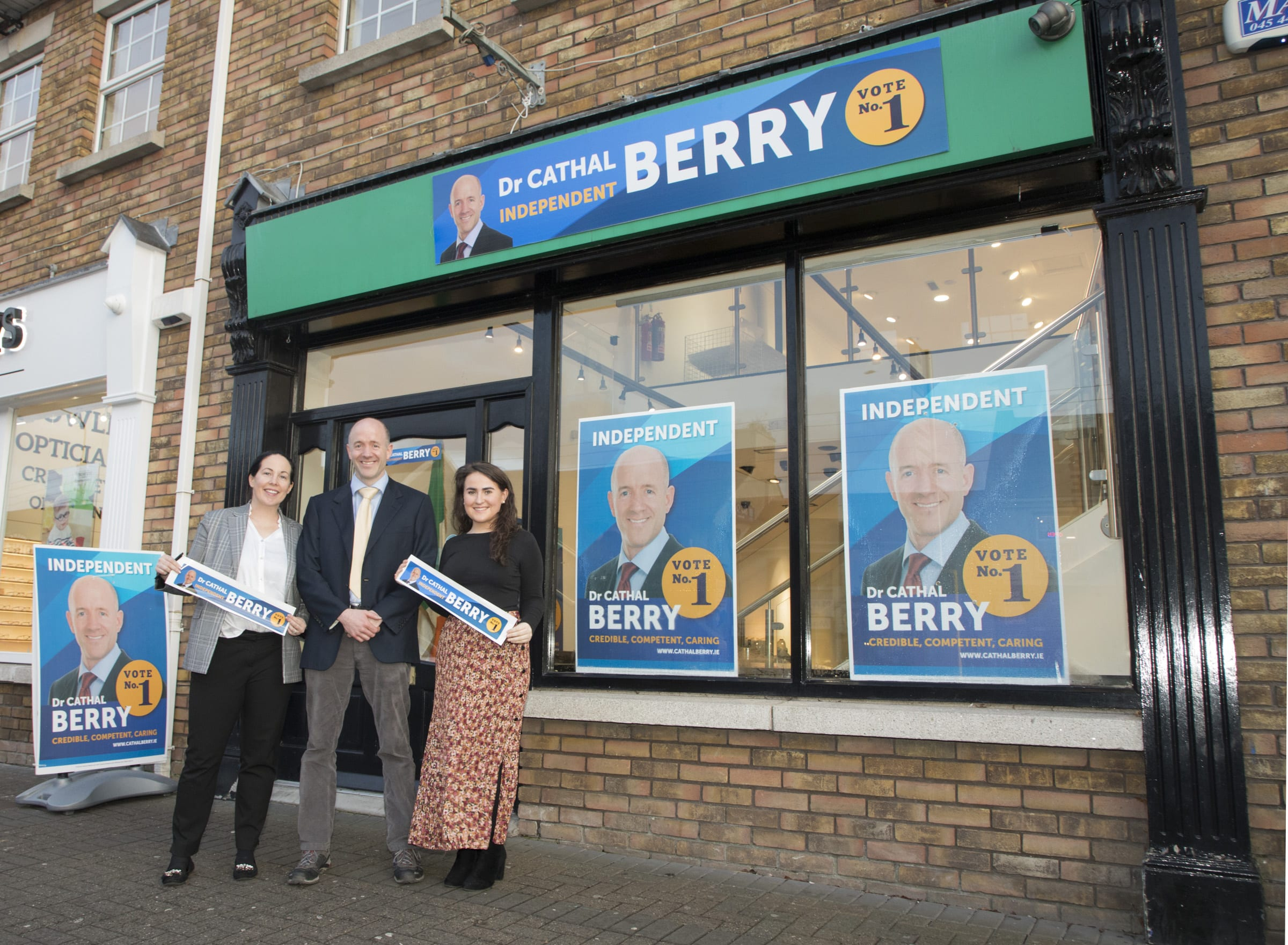 Cathal Berry Kildare South Election Candidate, Portarlington constituency office.
