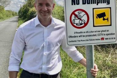 New Signs to Deter Illegal Dumping Between Portarlington and Monasterevin.