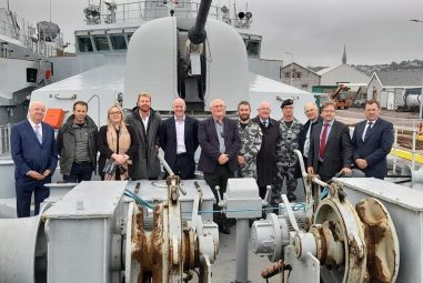 Foreign Affairs & Defence Committee visit Irish Naval Base
