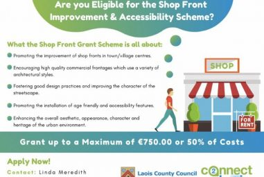 Shop Front Improvement Scheme for Kildare and Laois